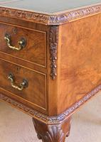 Quality Burr Walnut Kneehole Writing Desk (11 of 15)