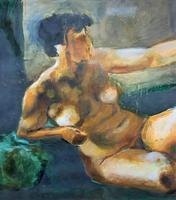 20th Century British School Reclining Nude Female Portrait - Watercolour & Body Wash (7 of 12)