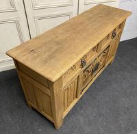French Gothic Bleached Oak Sideboard (7 of 17)