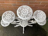 Victorian 19th Century Garden Cast Iron 6 Branch Plant Stand Coalbrookdale Style (6 of 27)