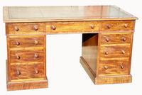 Superb Quality Victorian Mahogany Pedestal Desk (4 of 7)