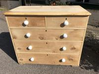 Antique Pine Two Over Three Chest of Drawers (7 of 11)