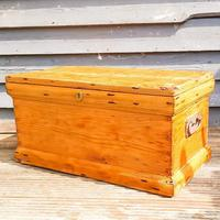 19th Century Carpenters Trunk with Shipwreck Finish (3 of 8)