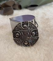 Silver Celtic knot shield design brooch. Hallmarked for Chester 1948 (4 of 4)