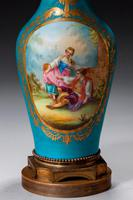 Late 19th Century Sevres Style Porcelain Vase Lamp (3 of 5)