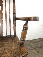 Antique Beech & Elm Windsor Armchair (3 of 12)