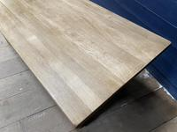 Good Looking Bleached Oak Farmhouse Dining Table (9 of 17)