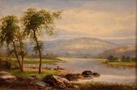 "Oil Painting by Albert Gyngell ""Rydal Water"" (2 of 5)"