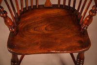 Yew Wood High Back Windsor Chair Rockley Made (8 of 9)