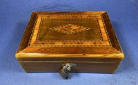 Victorian Rosewood Box With Inlay. (4 of 12)