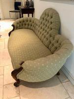 Antique Victorian Sofa Settee Buttonback (2 of 7)