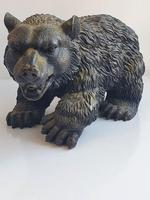 Large Detailed Vintage Bronze Grizzly Bear c1940s (7 of 10)
