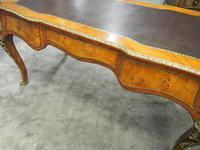 Large French Walnut Bureau Plat / Writing Table (16 of 16)