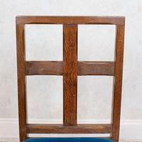 6 Arts & Crafts Carved Oak Dining Chairs (3 of 10)