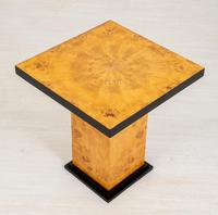 Art Deco Figured Elm Occasional Table (5 of 5)