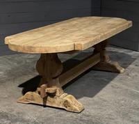 Large Rustic French Bleached Oak Farmhouse Dining Table (14 of 40)