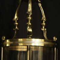 French Pair of Convex Twin Light Antique Lanterns (5 of 10)