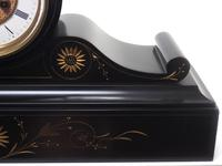 Amazing French Slate Mantel Clock Visible Escapement 8 Day Striking Mantle Clock (5 of 14)