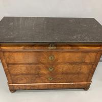 Figured Walnut and Marble Top Commode (9 of 13)