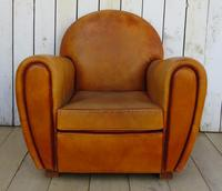 Large French Leather Club Chair (2 of 10)