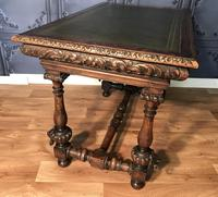 Victorian Carved Oak Library Table (5 of 25)