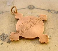 Victorian Pocket Watch Chain Fob 1890s 10ct Rose Gold Filled The St John Ambulance Fob (4 of 7)