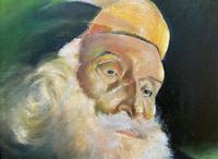 Early 1900s Oil Portrait Painting of Elderly Bearded Indian Gent (7 of 12)