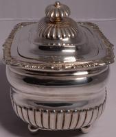 Fine George III Large Silver Tea Caddy by London Silversmiths J. W. Story & W. Elliott, 1811 (4 of 9)