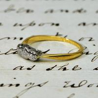 The Antique W.G&S Three Diamond Ring (2 of 3)