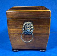 Regency Rosewood Twin Section Tea Caddy (4 of 12)