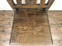 19th Century Antique Gothic Carved Oak Chair (4 of 8)