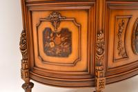 Antique Italian Walnut Display Cabinet (5 of 11)