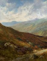 (1of2) Huge Exceptional 19thc Snowdonia Welsh Mountain Landscape Oil Painting (8 of 15)