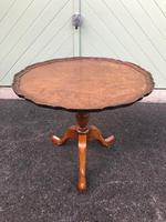Antique Burr Walnut Tripod Wine Table