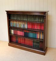 Late 19th Century Open Mahogany Bookcase (9 of 10)