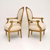 Pair of Antique French Giltwood Salon Chairs (3 of 11)