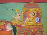 Charming 18th Century Indian Watercolour Prince in Carriage (4 of 5)