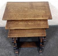 Oak Nest of Three Graduated Tables by GT Rackstraw Furniture (4 of 9)