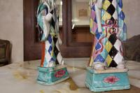 Charming Near Pair of 18th Century Chinese Export Immortals - Harlequin (6 of 11)
