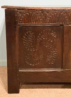 Early 18th Century Oak Coffer Carved (5 of 7)