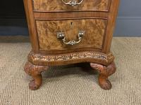 Burr Walnut Pedestal Desk by Maple and Co (4 of 18)