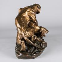 Stunning 19th Century French Bronze Sculpture of Two Tigers by E.Drouot (4 of 11)