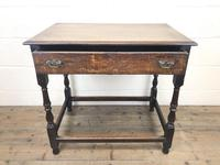 18th Century Oak Side Table with Drawer (3 of 9)