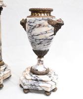 Antique Mantle Clock Set Garniture French Empire Urns (10 of 27)