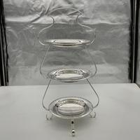 Edwardian Silver Plate Three Tier Cake Stand Fenton Brothers c.1900 (2 of 9)
