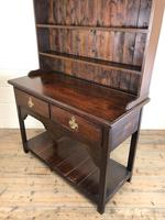 Antique Early 20th Century Oak Pot Board Dresser (9 of 14)