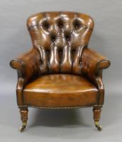 19th Century Leather Upholstered Armchair (2 of 6)