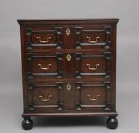 Mid 18th Century oak moulded front chest of drawers (8 of 10)