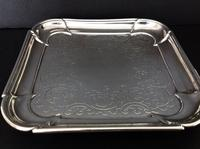 Antique George 1st Silver Salver - 1724 (2 of 5)