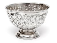 Edwardian Silver Rose Bowl Embossed with Flowers and Scrolls (5 of 5)